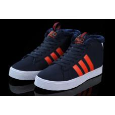 Кроссовки Adidas Neo Bbneo утепленные темносиний